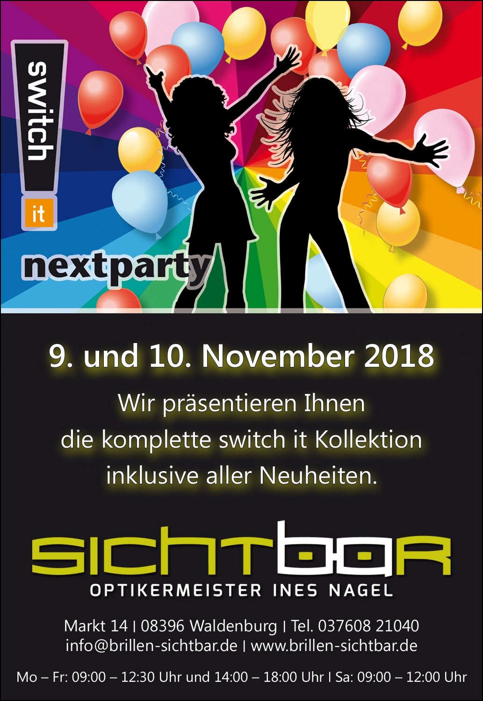 Einladung: switch it nextparty am 9. und 10. November 2018